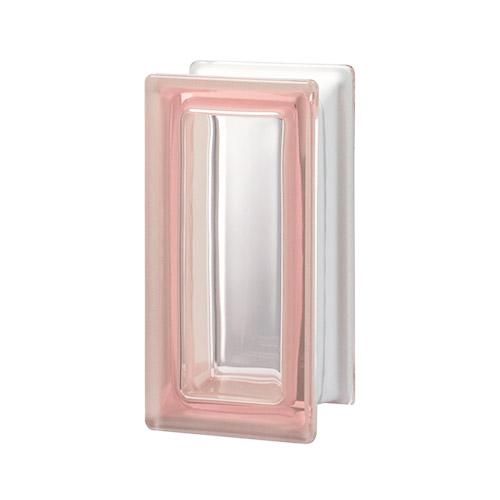 Pustaki szklane R09 Rosa T 1909/8 Luksfery różowe połówki