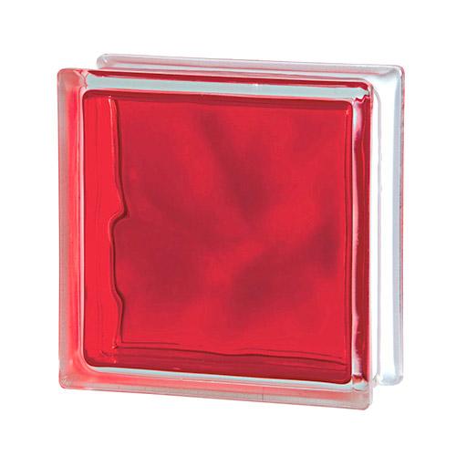 Pustak szklany Wave Brilly Red 1919/8 luksfer chmurka czerwony