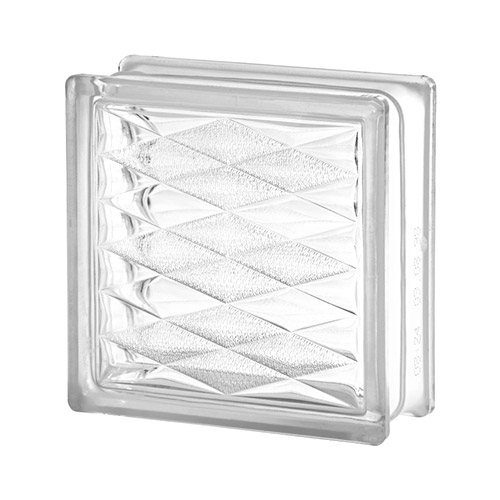 Pustak szklany Lozenge Seves 1919/8 luksfer bezbarwny trójkąty