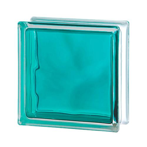 Pustak szklany Wave Brilly Turquoise 1919/8 luksfer chmurka turkusowy