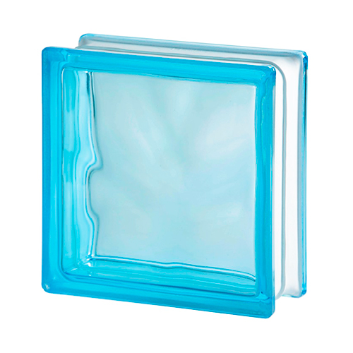 Pustak szklany WAVE AZUR E60 luksfer chmurka niebieski 19x19x8