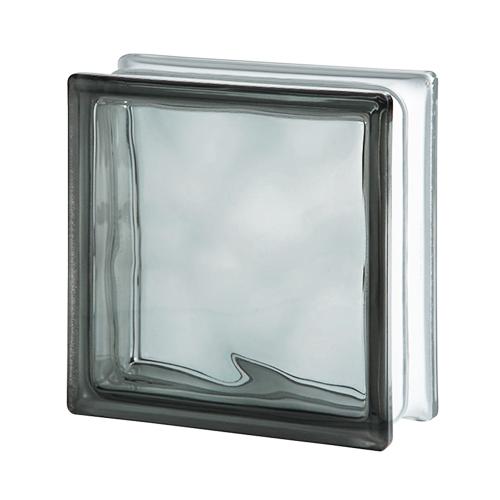 Pustak szklany WAVE GREY E60 Luksfer 19x19x8 szary chmurka
