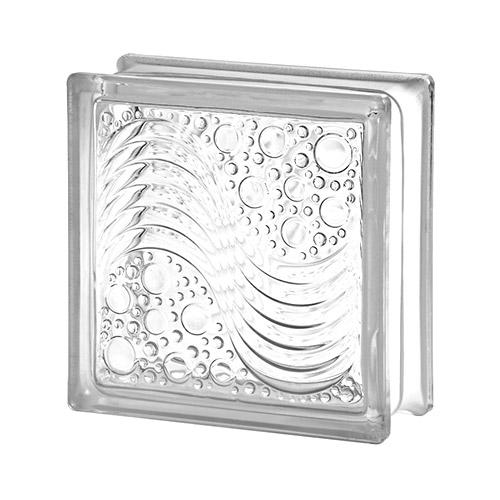 Pustak szklany Marina Seves E60 1919/8 luksfer bezbarwny/fale