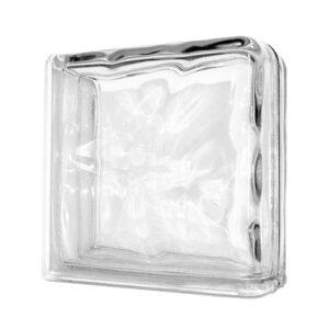 Pustak szklany zakończeniowy Wave 1919/8 luksfer narożny bezbarwny fala