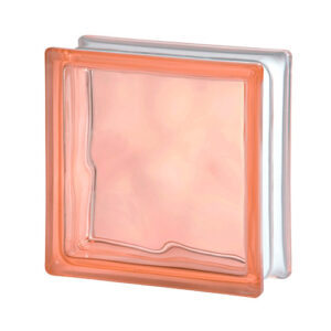 Pustak szklany Wave Pink 1919/8 różowy luksfer fala/chmurka