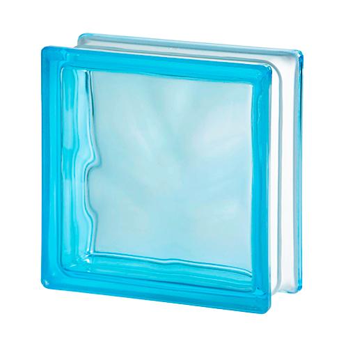 Pustak szklany Wave Azur Sahara 1 E60 1919/8 luksfer niebieski satynowany jednostronnie