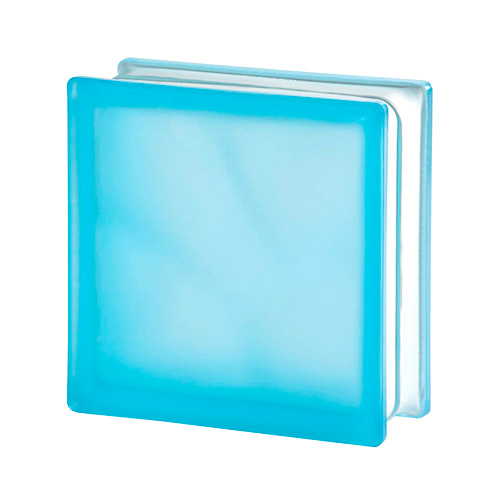 Pustak szklany Wave Azur Sahara 2 E60 1919/8 luksfer niebieski satynowany dwustronnie
