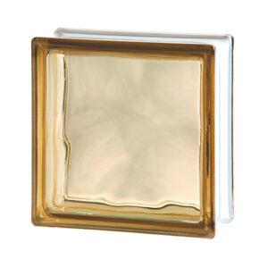 Pustak szklany WAVE BROWN E60 Luksfer chmurka brązowy 19x19x8