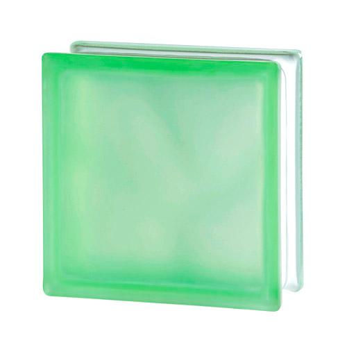 Pustak szklany Wave Green Sahara E60 1919/8 luksfer zielony satynowany jednostronnie