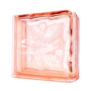 Pustak szklany Wave Pink Double End 1919/8 luksfer różowy narożnikowy
