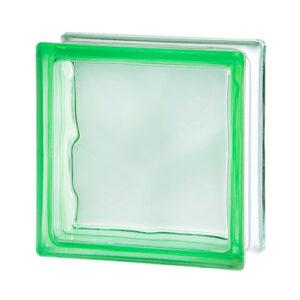 Pustak szklany Wave Green 1919/8 zielony luksfer chmurka/fala