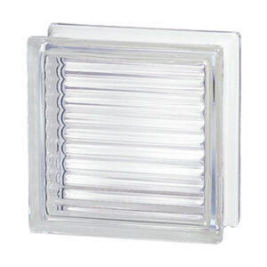 Pustaki szklane 198 Clear Reeded E60 EI15 luksfery bezbarwne