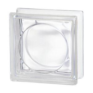 Pustaki szklane 198 Transparent Round E60 EI15 luksfery bezbarwne