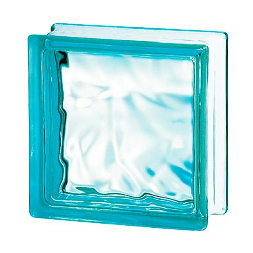 Pustaki szklane 198 Turquoise Flemish E60 EI15 luksfery 19x19x8