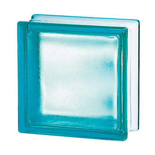 Pustaki szklane 198 Turquoise Frosted Sat1 E60 EI15 luksfery 19x19x8