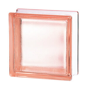 Pustaki szklane 198 Pink Frosted E60 EI15 luksfery 19x19x8