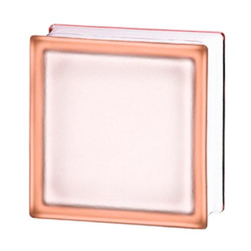 Pustaki szklane 198 Pink Frosted Sat1 E60 EI15 luksfery 19x19x8