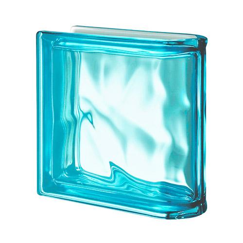 Pustaki szklane Ter Lineare Aquamarina O Met 1919/8 Luksfery zakończeniowe niebieskie