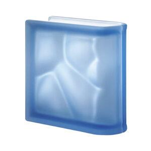 Pustaki szklane Ter Lineare Blue O Sat 1919/8 Luksfery zakończeniowe satynowane niebieskie