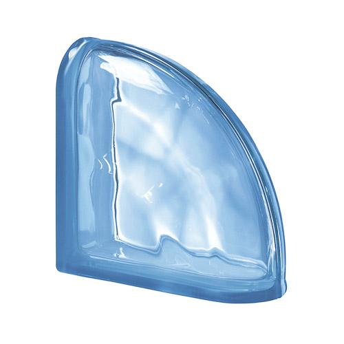 Pustaki szklane Ter Curvo Blue O 1919/8 Luksfery zakończeniowe narożne niebieskie