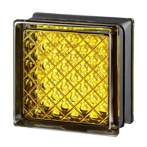 Pustaki szklane MyMiniGlass Daredevil Yellow luksfery 14,6x14,6x8