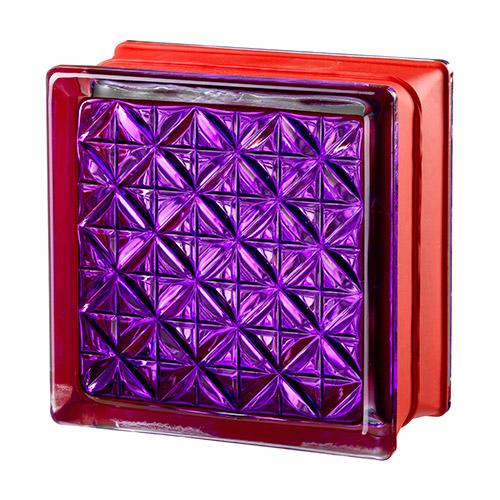 Pustaki szklane MyMiniGlass Romantic Violet luksfery 14,6x14,6x8