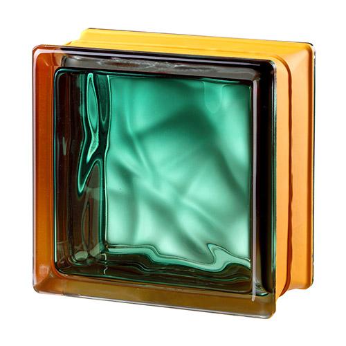 Pustaki szklane MyMiniGlass Vegan Emerald luksfery 14,6x14,6x8