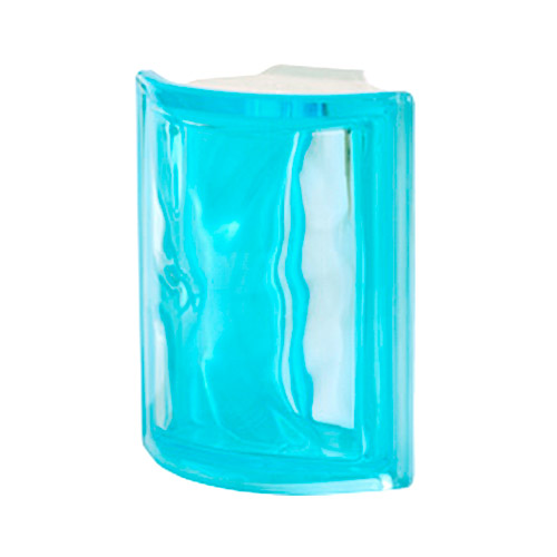 Pustaki szklane Angolare Aquamarina O Luksfery chmurki niebieskie