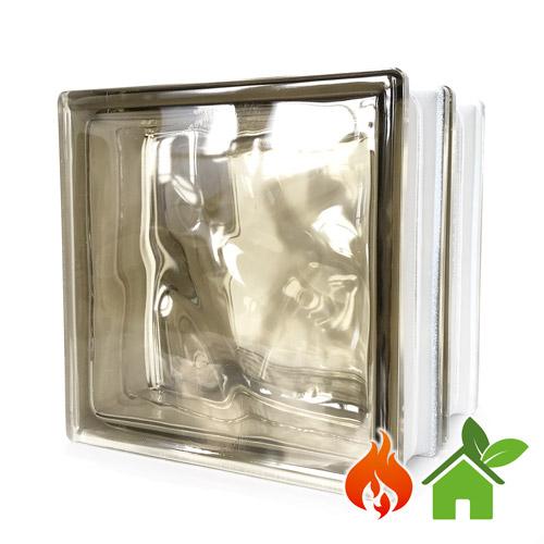 Pustaki szklane energooszczędne Wave Brown luksfery 19x19x16