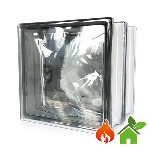 Pustaki szklane energooszczędne Wave Grey luksfery 19x19x16