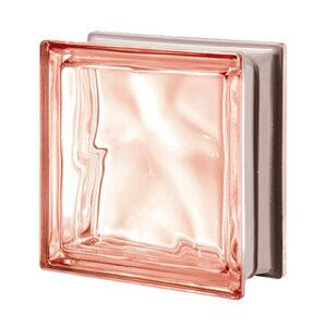 Luksfery różowe metalizowane Q19 Rosa O MET pustaki szklane-chmurki