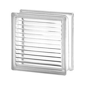 Pustak szklany Paralline Seves E60 1919/8 luksfer bezbarwny/linie