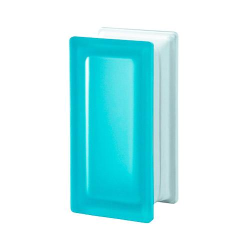 Pustaki szklane R09 Aquamarina T Sat 1909/8 Luksfery niebieskie satynowane