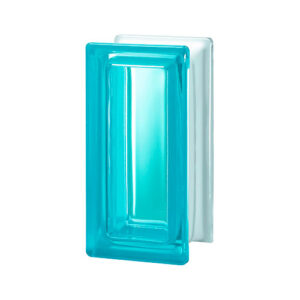 Pustaki szklane R09 Aquamarina T 1909/8 Luksfery niebieskie połówki