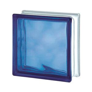 Pustak szklany WAVE BLUE E60 Luksfer chmurka niebieski 19x19x8