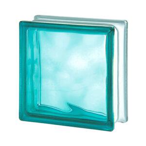 Pustak szklany WAVE Turquoise E60 Luksfer chmurka turkusowy 19x19x8